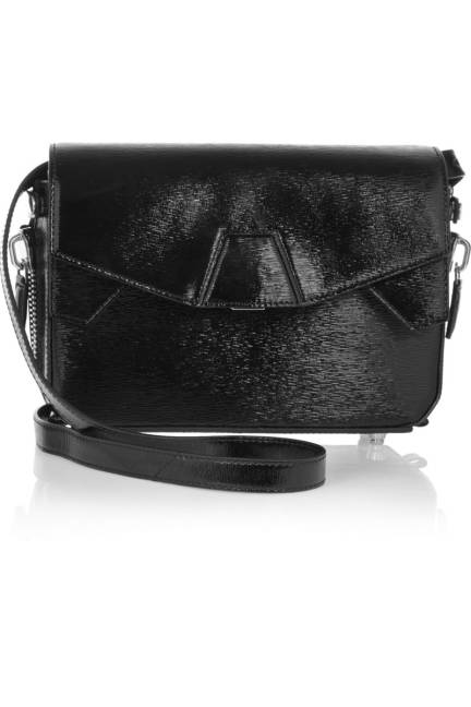 Alexander Wang Textured-Leather Shoulder Bag Чанта естествена кожа