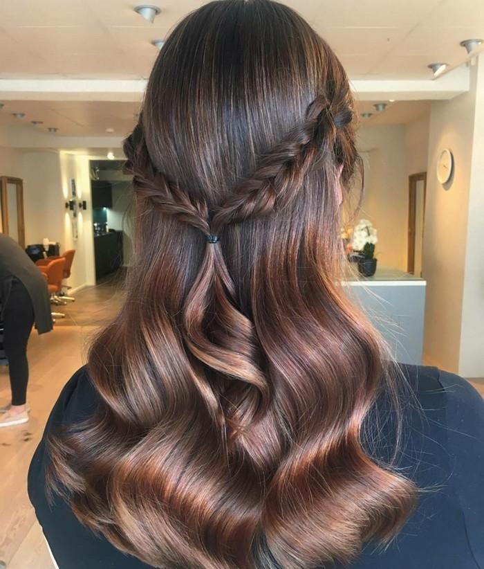 Светло кестенява коса и ефекти