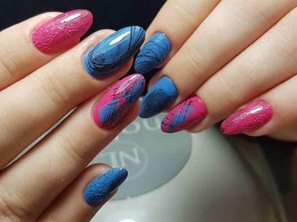 пяна дизайн за ноктите