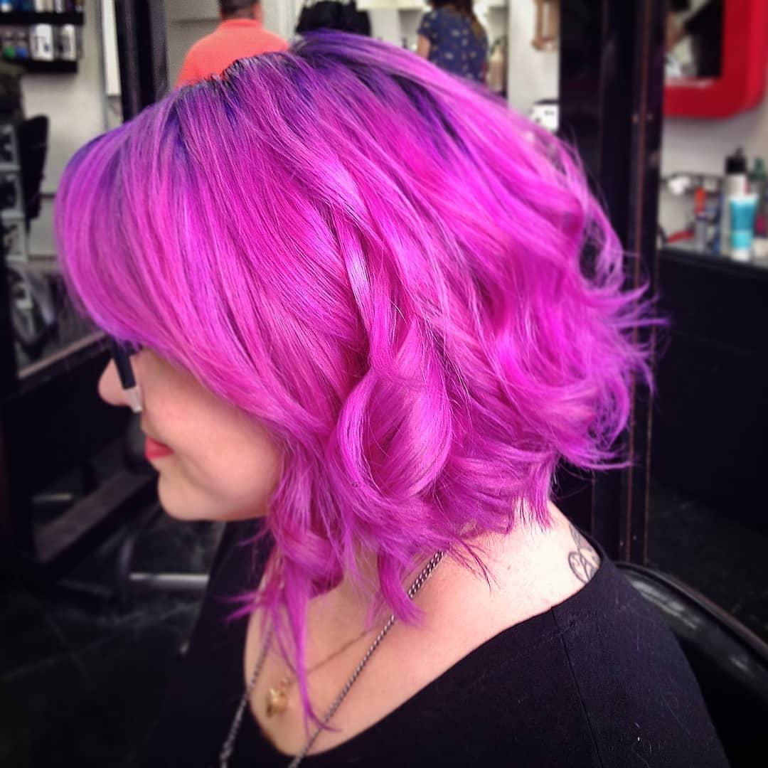 виолетова коса