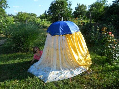 градинска шатра от чадър