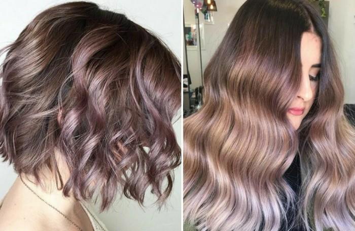 шоколадово-лилавия цвят за косата