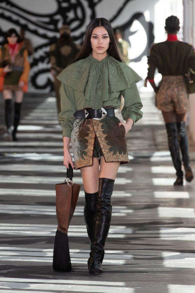 блуза с волани есен