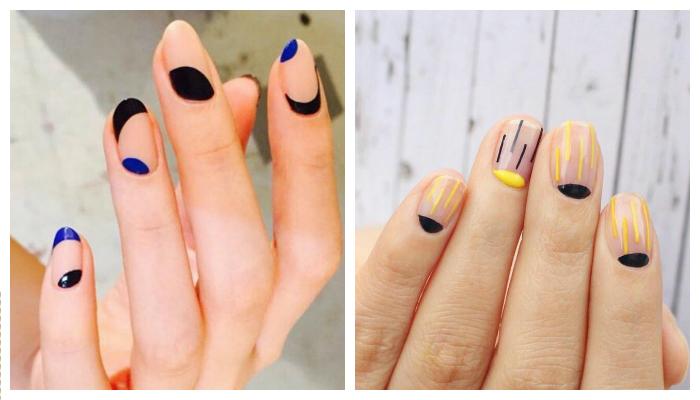 Свеж цветен дизайн луна за ноктите