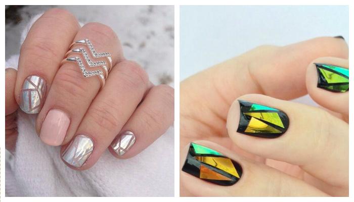 Дизайн на ноктите от счупено стъкло