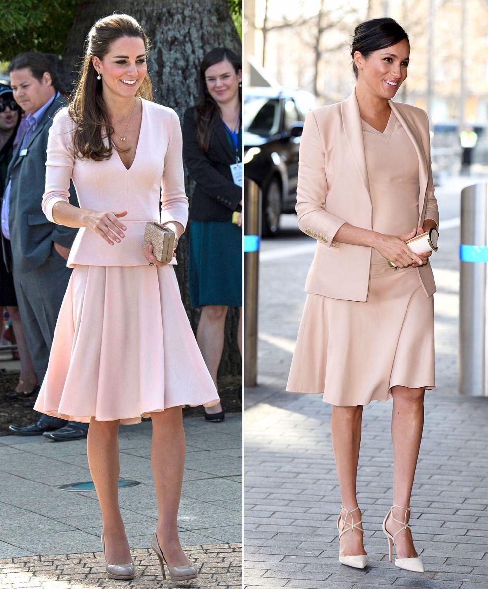 Кейт и Меган в розово