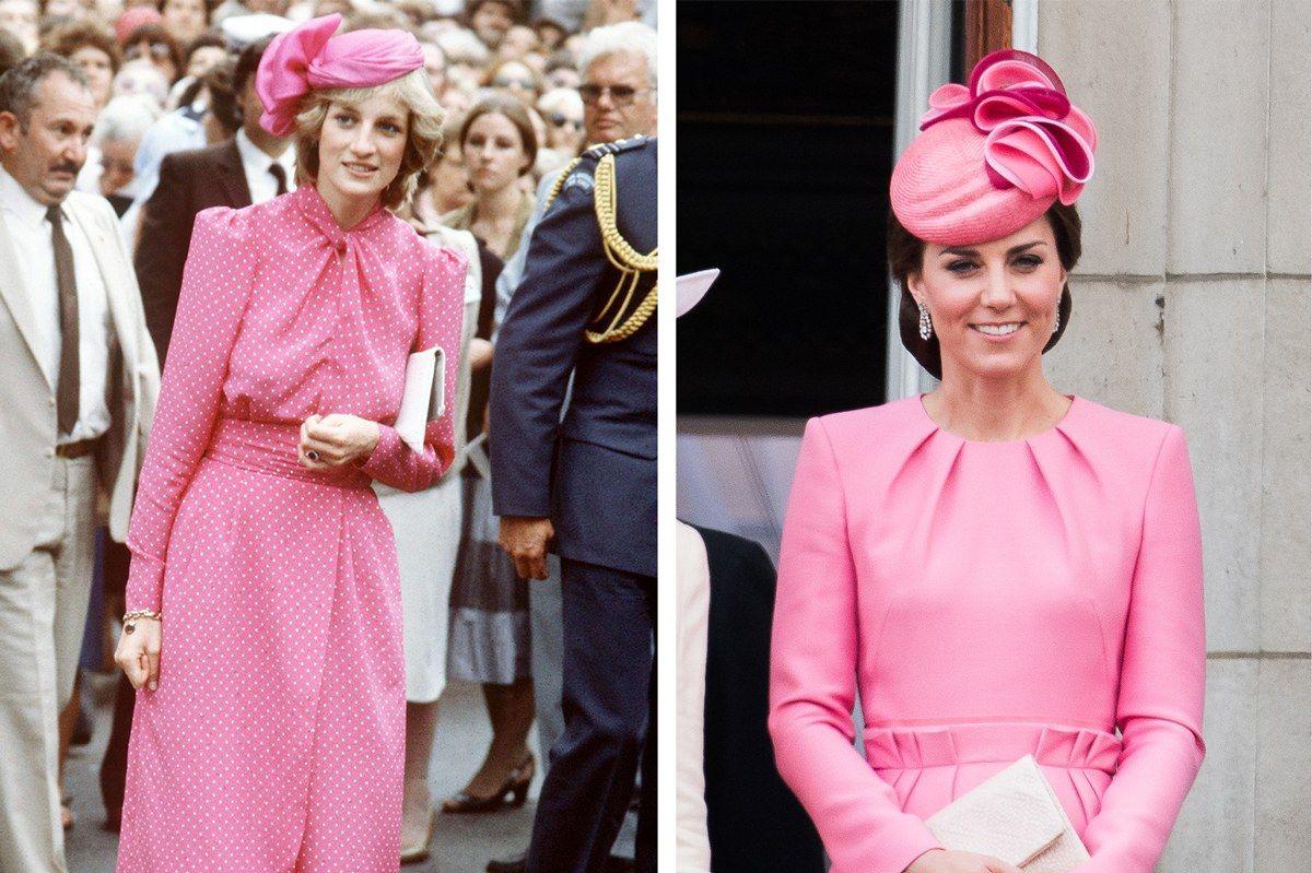 лейди Ди и Кейт в розово