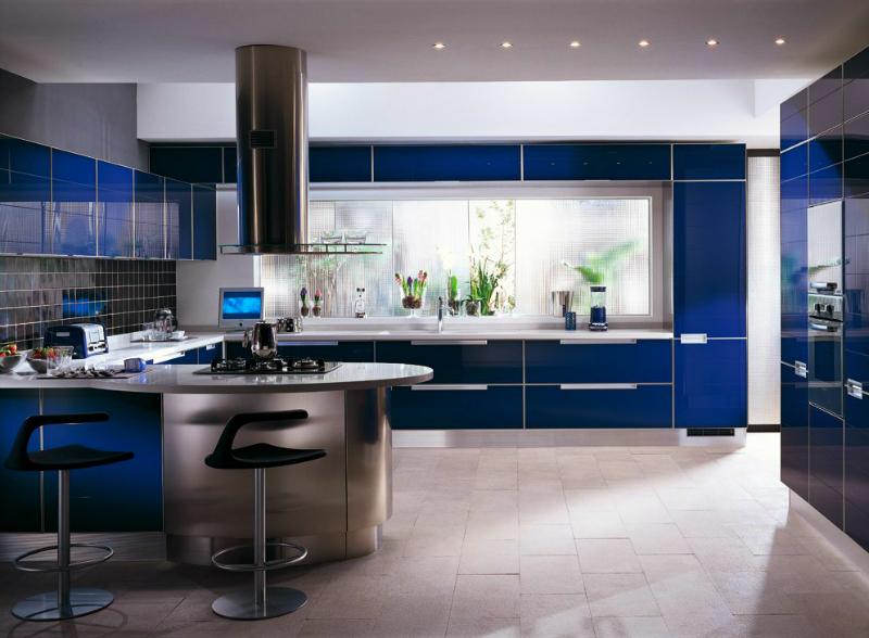 Кухненски дизайн в синьо