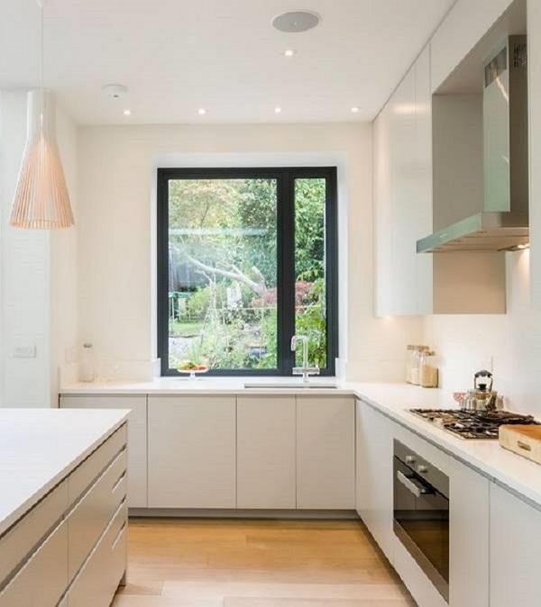 прозорец перваза дизайн в кухнята