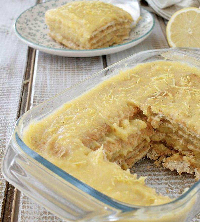 лимонова торта без печене
