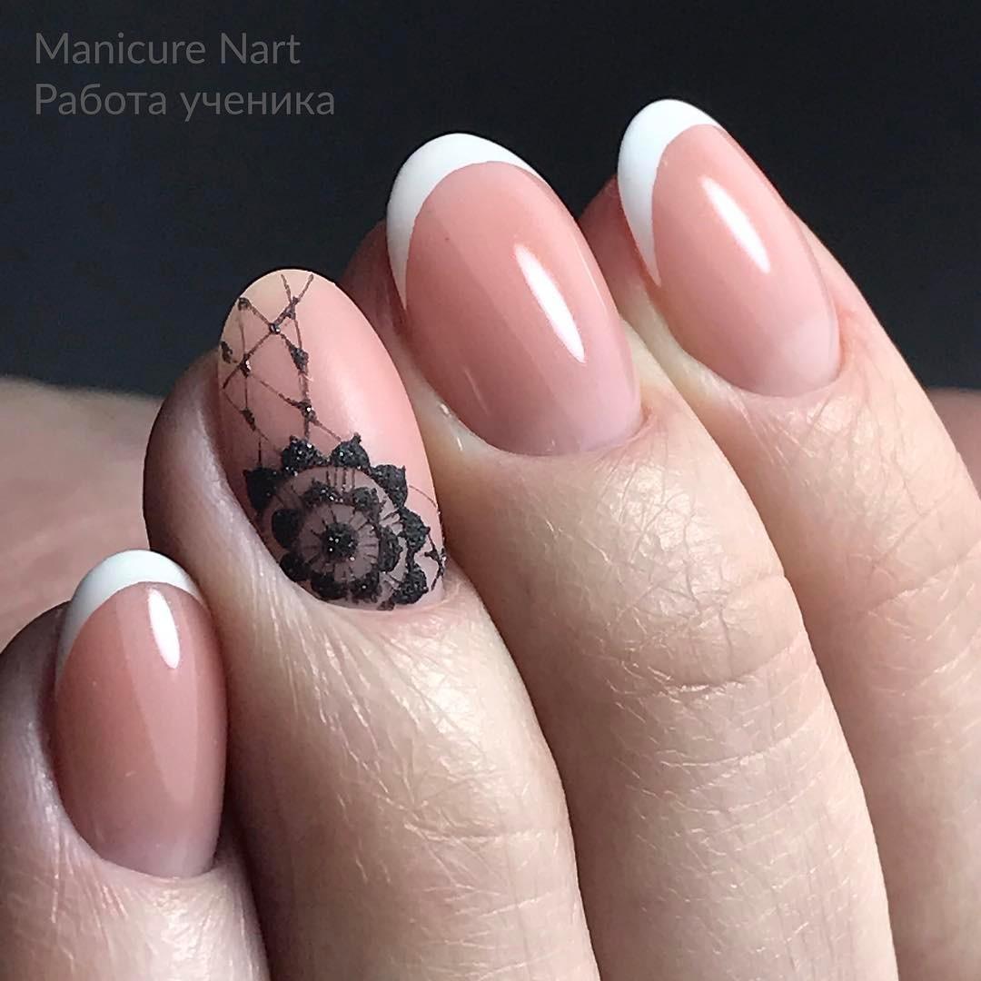 френски маникюр къси нокти