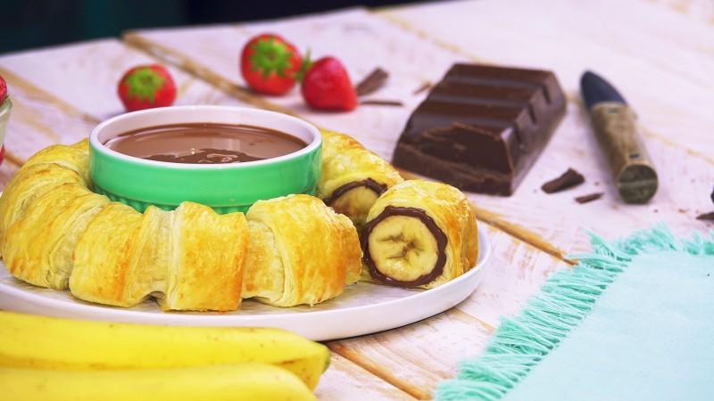 бананов пай с шоколад