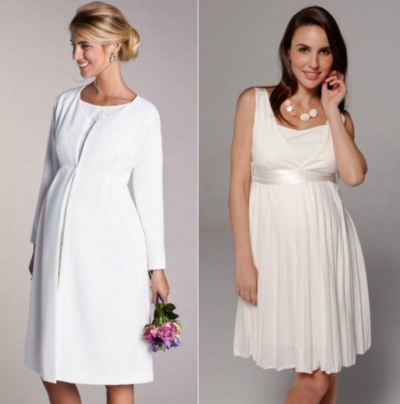 сватбена рокля с ръкави за бременни
