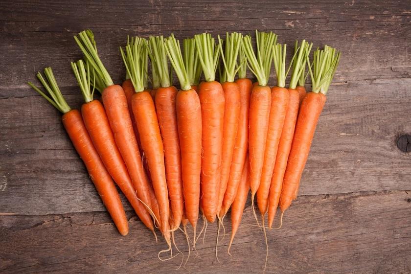 алкални храни моркови