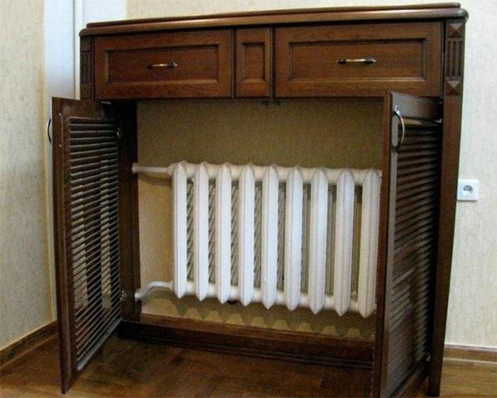 как да скриете радиатора