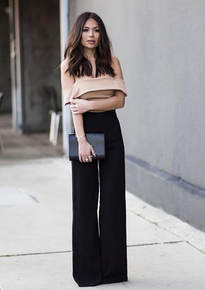 панталони с широка рязане
