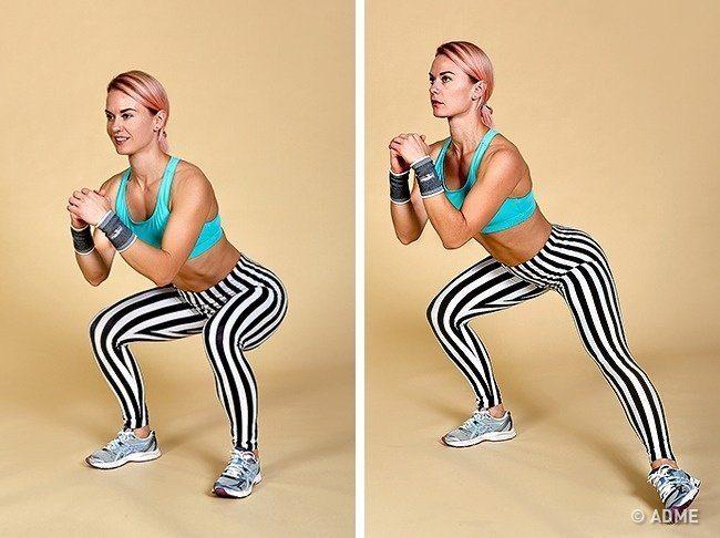 Издърпайте задника и краката за една седмица!  12 най-ефективни упражнения