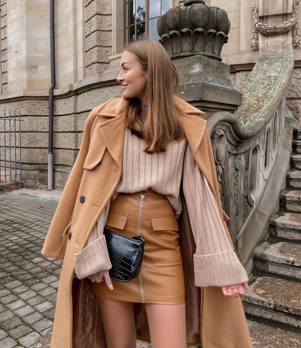 елегантно палто с пола