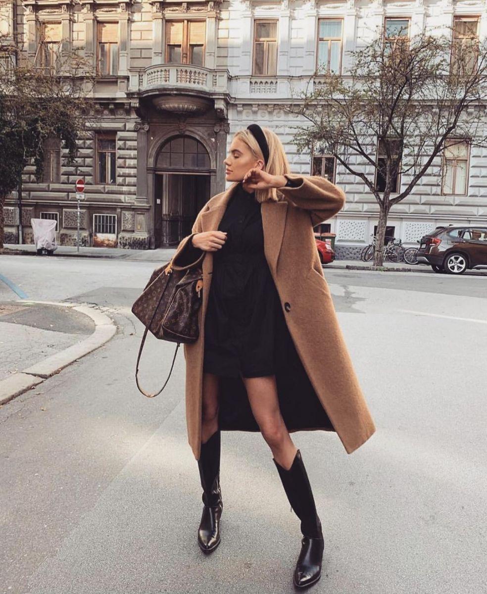 съчетание палто и рокля