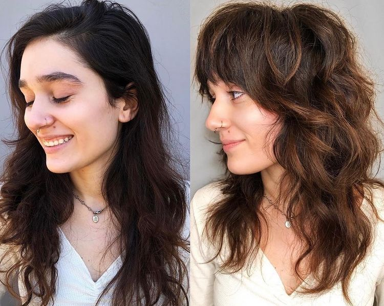 ретро каскада дълга коса
