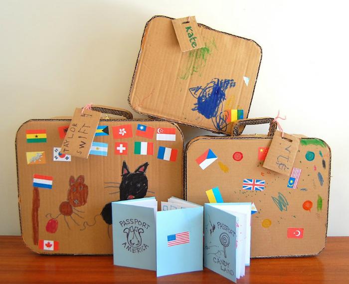 куфари от картон