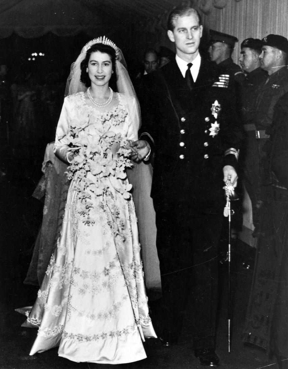 кралицата и принц Филип