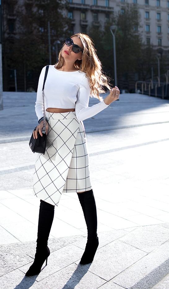 бяла пола с прихлупване