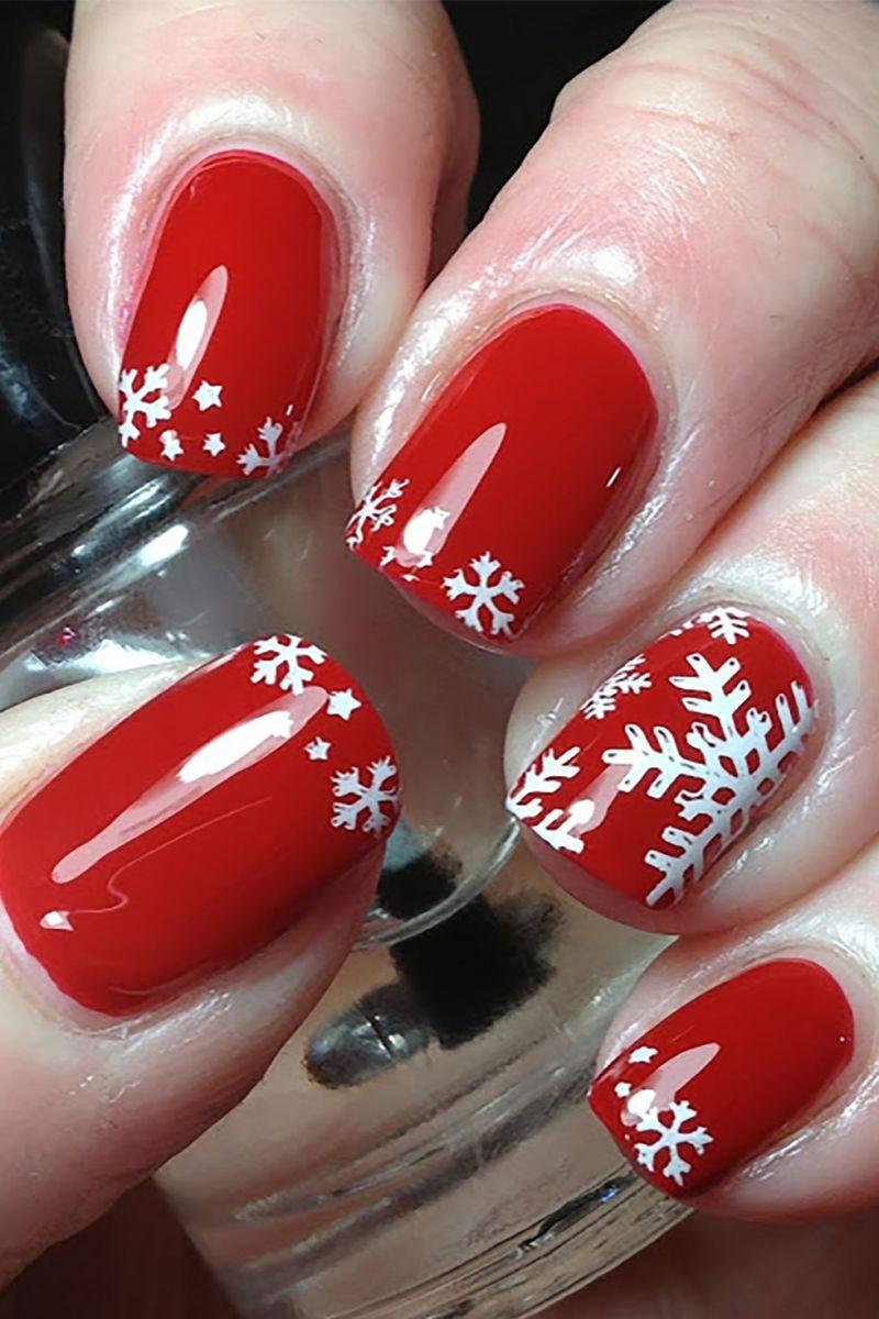 Дизайн със снежинки за ноктите