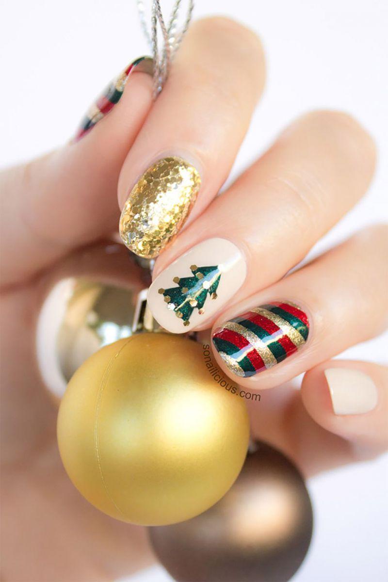 Коледни идеи за ноктите