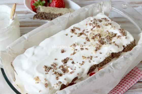 торта с обикновени вафли