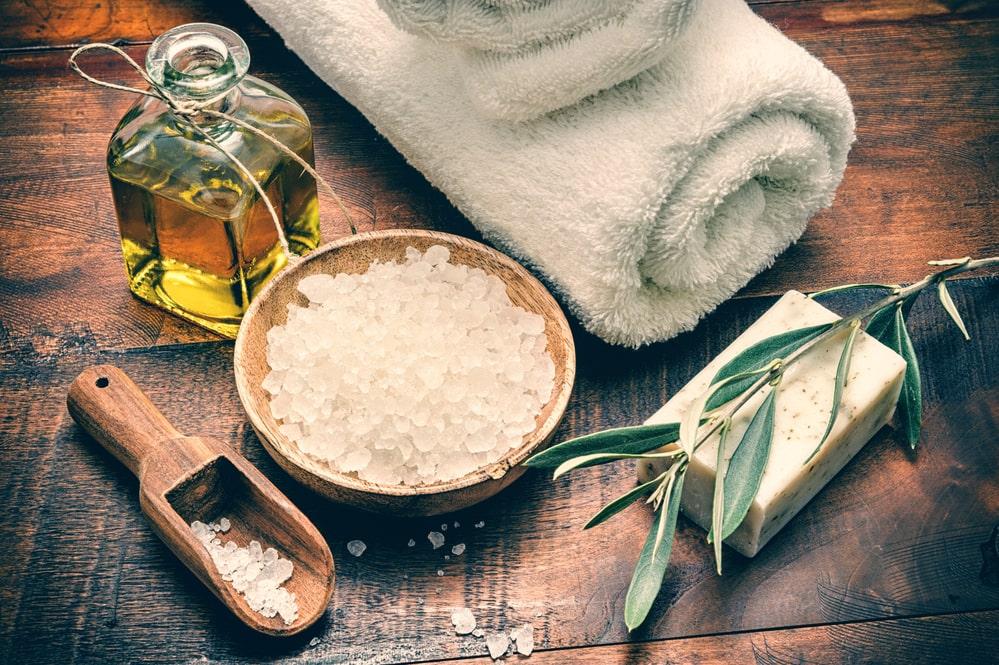 скраб за коса със сол