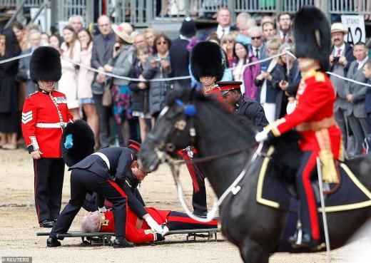 гвардеец падна от коня