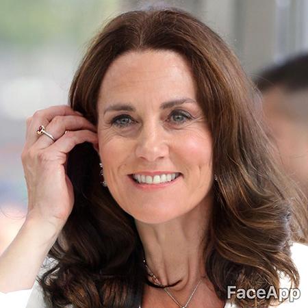 Кейт състарена