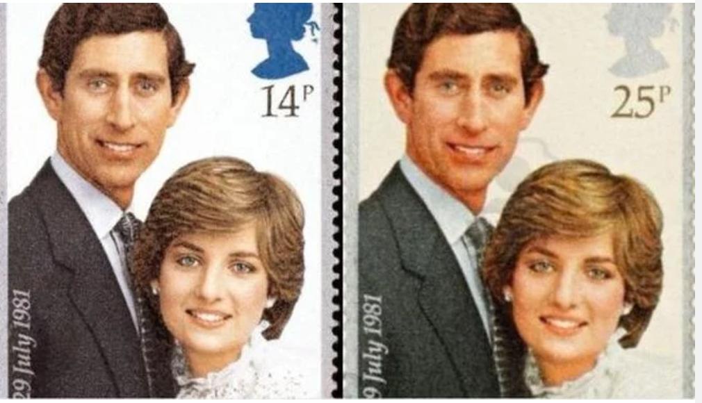 Чарлз и ДАяна марки