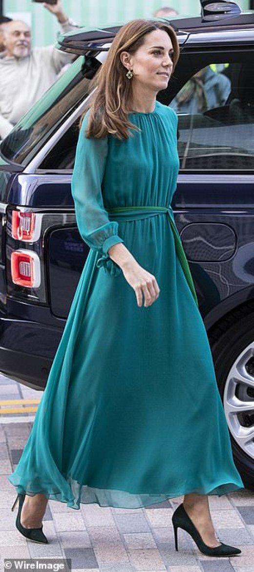 Кейт Мидълтън в зелено