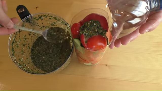 мариновани зеленчуци в бутилка