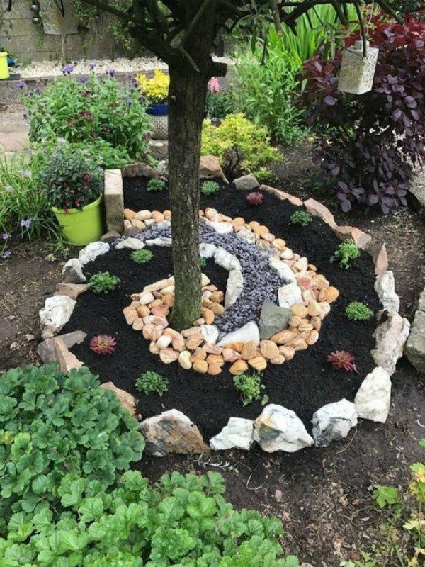 декорация с камъчета