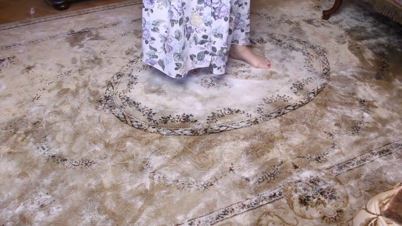 сухо почистване килим