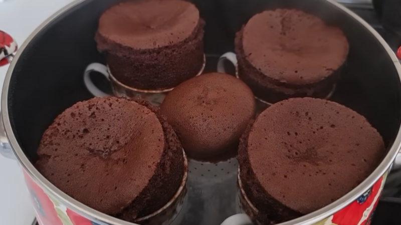 шоколадово суфле в тенджера