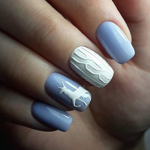 плетени нокти за зимния сезон