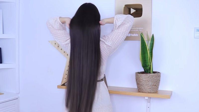 маска за копринена коса