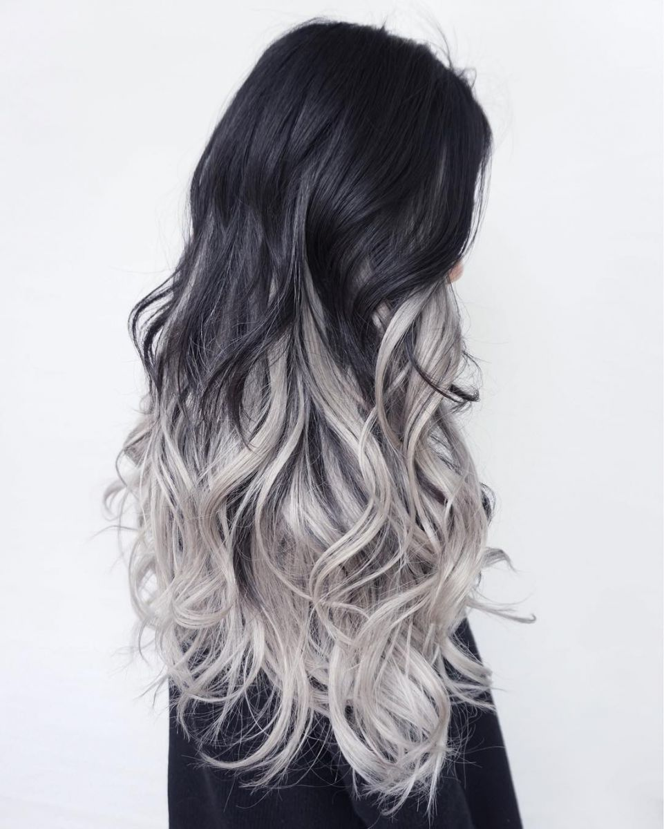 ефектно омбре тъмна коса