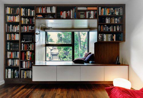 голяма библиотека на прозореца