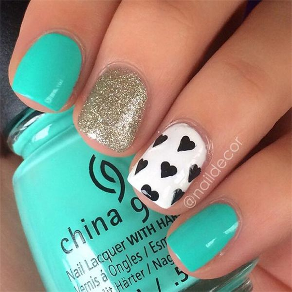 48 Cute Nail Art Ideas for Short Nails |  https://www.meetthebestyou.com/48-cute-nail-art-ideas-for-short-nails/: