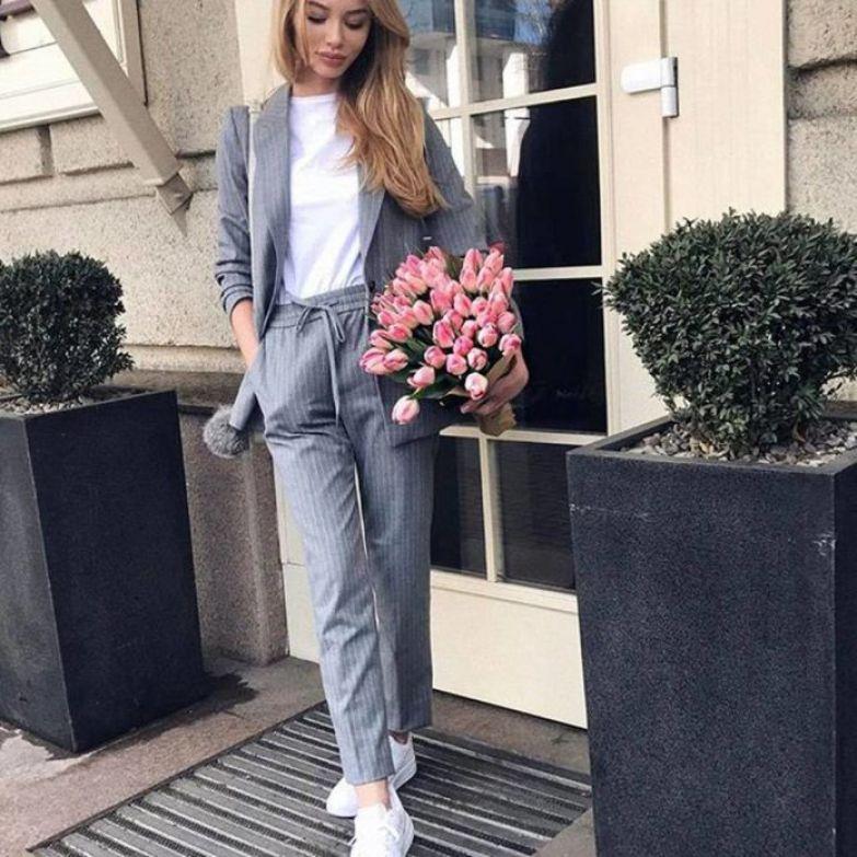 елегантни сиви панталони