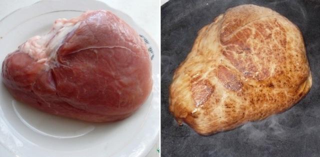 печено месо в фолио