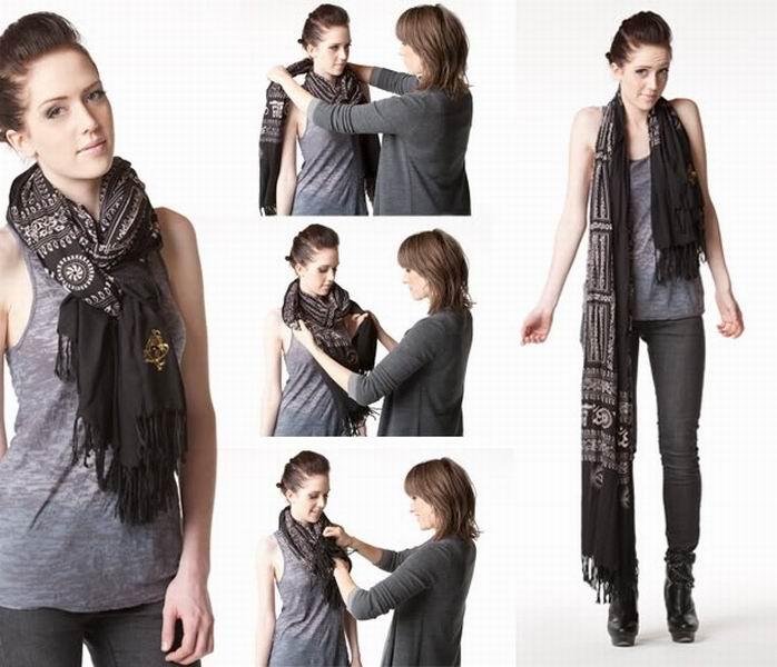 връзване на шал