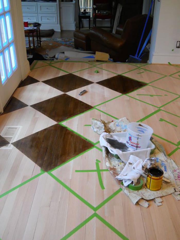 боядисани дървени подове