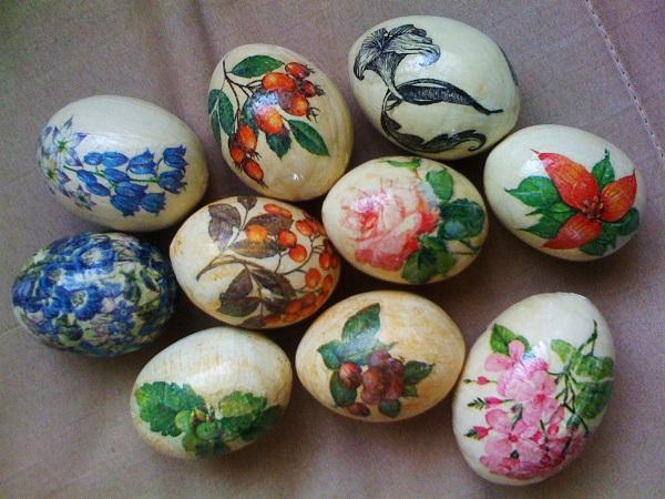 декупаж върху яйца