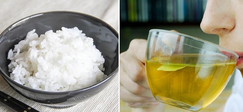 ориз и зелен чай